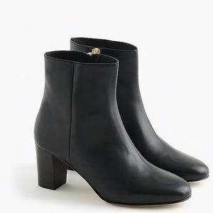 J. Crew Heeled Leather Ankle Boot